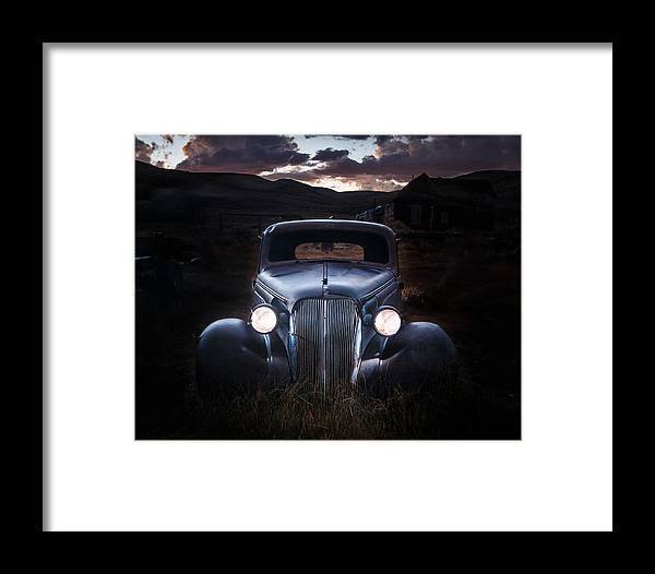Chevy Framed Print featuring the photograph 1937 Chevy At Dusk by Jeff Sullivan