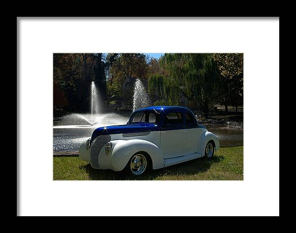 1938 Ford Framed Print featuring the photograph 1938 Ford Coupe Hot Rod by Tim McCullough