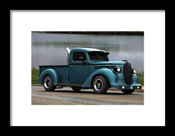 1938 Framed Print featuring the photograph 1938 Ford Pickup Truck Hot Rod by Tim McCullough