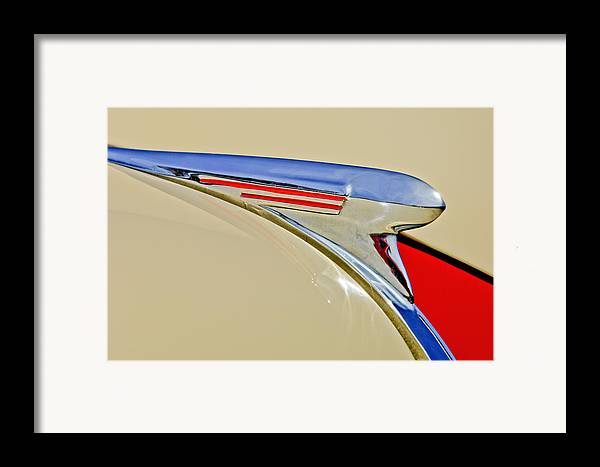 1940 Chevrolet Framed Print featuring the photograph 1940 Chevrolet Pickup Hood Ornament 2 by Jill Reger