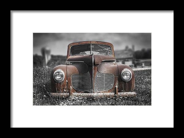 Desoto Framed Print featuring the photograph 1940 Desoto Deluxe With Spot Color by Scott Norris
