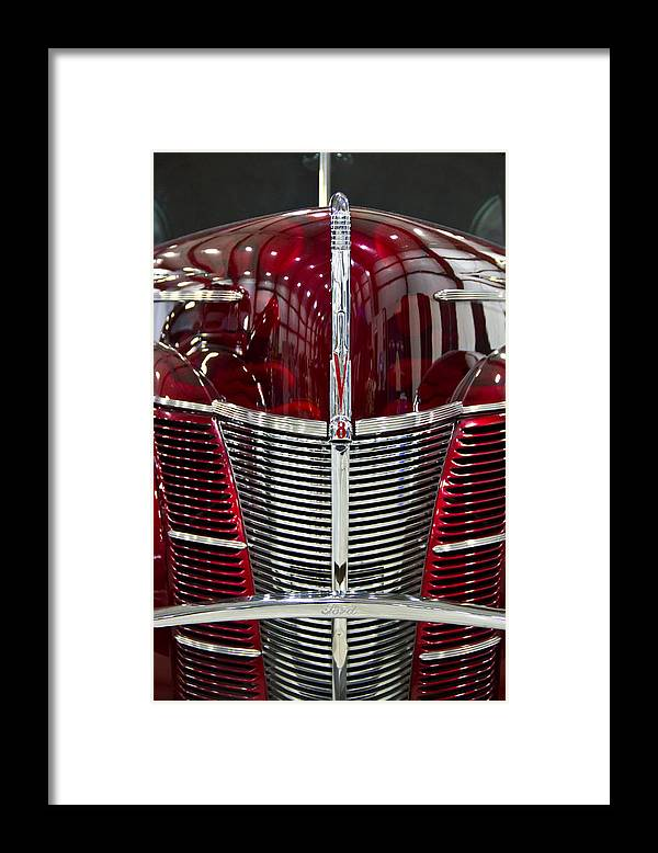 Old Framed Print featuring the photograph 1940 Ford V8 Grill by Eti Reid