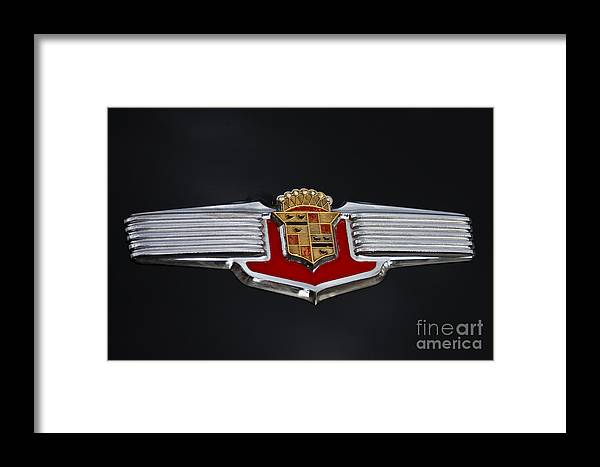 Classic Automobile Framed Print featuring the photograph 1941 Cadillac Emblem by Dennis Hedberg