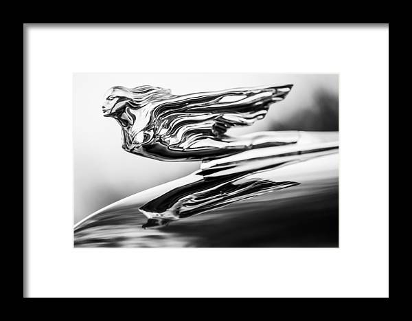 1941 Cadillac Framed Print featuring the photograph 1941 Cadillac Hood Ornament 4 by Jill Reger