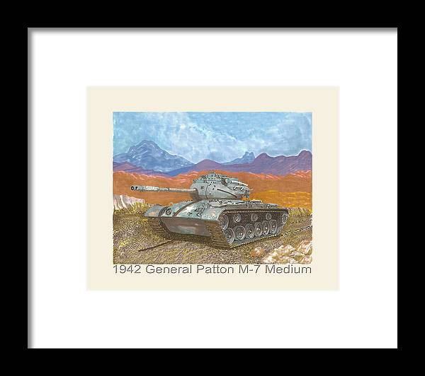 Winning The War Framed Print featuring the painting 1941 W W I I Patton Tank by Jack Pumphrey