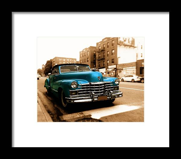 Cadillac Framed Print featuring the photograph 1947 Cadillac Convertible by Jon Woodhams