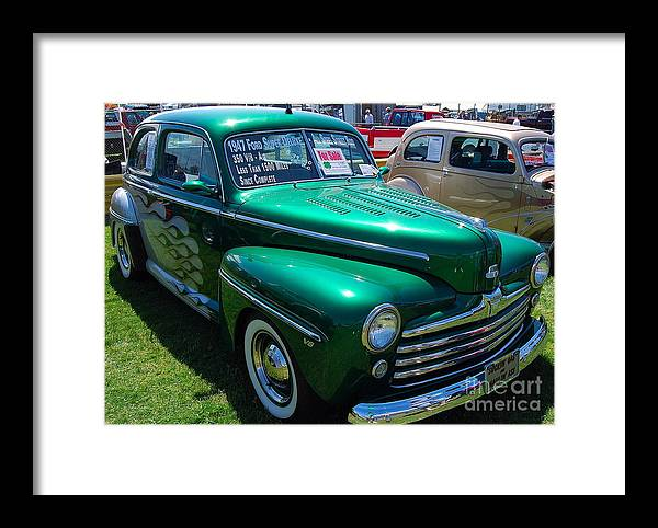 Classic American Car Framed Print featuring the photograph 1947 Ford Super Deluxe by Mark Spearman