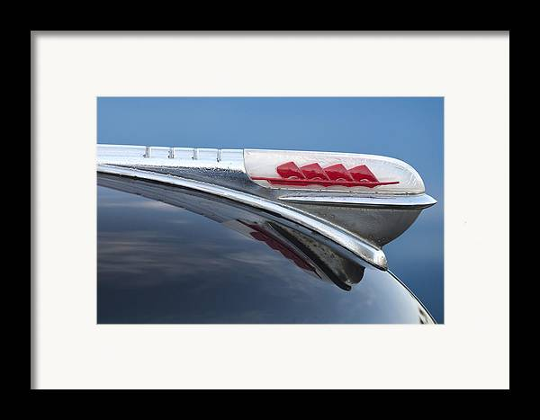 1947 Plymouth Framed Print featuring the photograph 1947 Plymouth Hood Ornament by Jill Reger