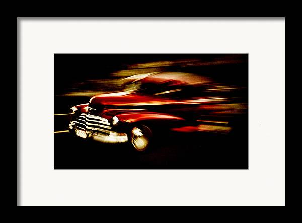 Custom Chevrolet Framed Print featuring the photograph 1947 Red Chevrolet by Phil 'motography' Clark