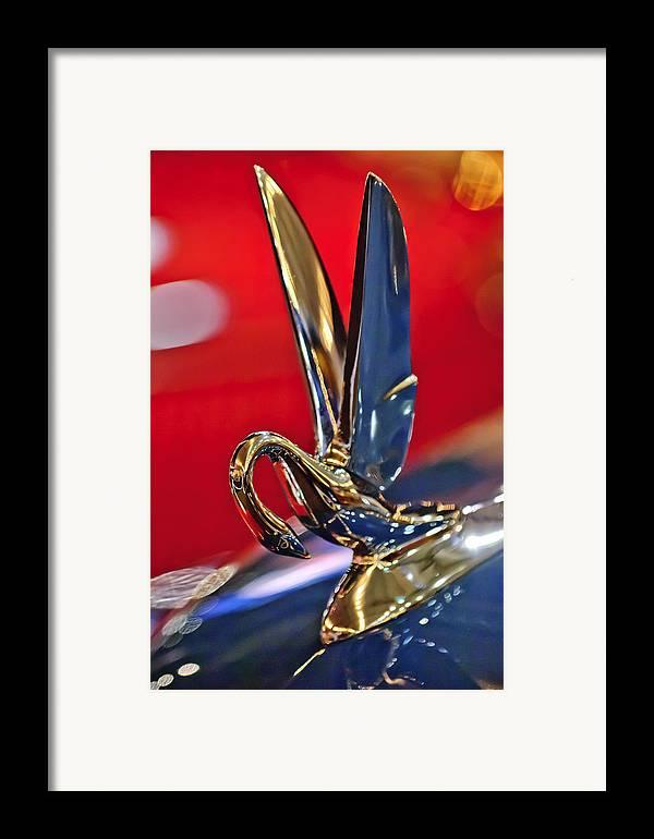 1948 Packard Super 8 Victoria 2 Door Convertible Framed Print featuring the photograph 1948 Packard Hood Ornament by Jill Reger