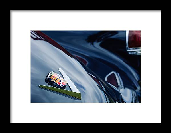 1949 Cadillac Fastback Taillight Emblem Framed Print featuring the photograph 1949 Cadillac Fastback Taillight Emblem by Jill Reger