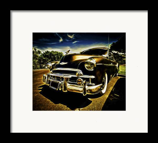 Custom Chevy Framed Print featuring the photograph 1949 Chevrolet Deluxe Coupe by motography aka Phil Clark