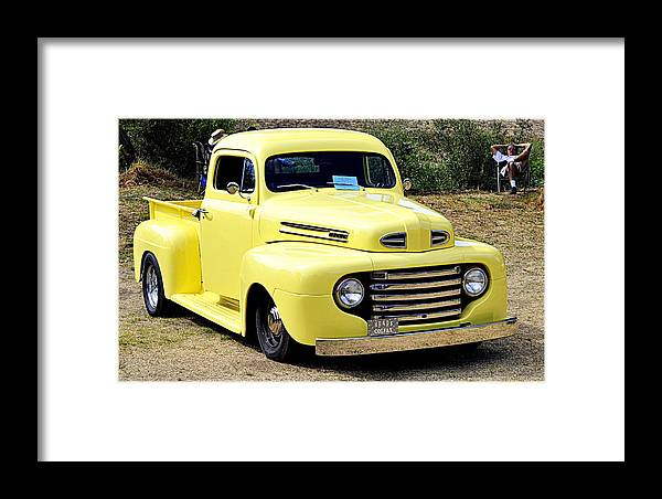 Trucks Framed Print featuring the photograph 1949 Ford Pickup by AJ Schibig