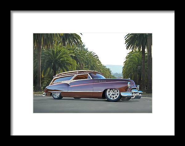 Auto Framed Print featuring the photograph 1950 Buick Woody Wagon Vi by Dave Koontz