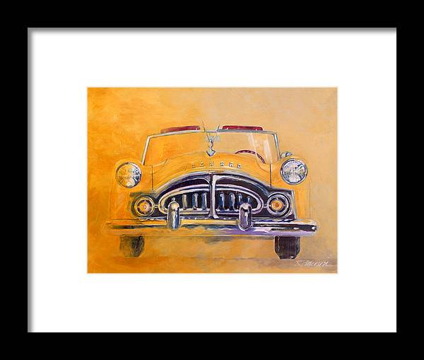 Transportation Framed Print featuring the painting 1951 Packard Clipper by Ron Patterson