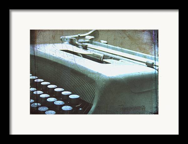 Olivetti Typewriter Framed Print featuring the photograph 1952 Olivetti Typewriter by Georgia Fowler
