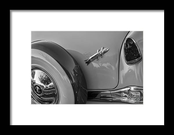 1954 Hudson Framed Print featuring the photograph 1954 Hudson Hornet by Dennis Hedberg