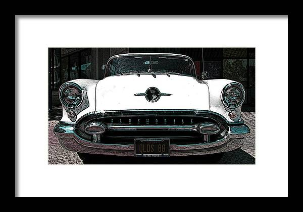 1955 Oldsmobile 88 Framed Print featuring the photograph 1955 Oldsmobile 88 by Samuel Sheats