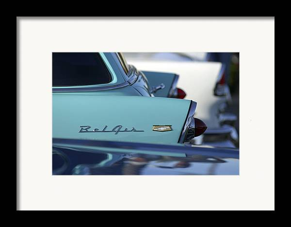 Car Framed Print featuring the photograph 1956 Chevrolet Belair Nomad Rear End by Jill Reger