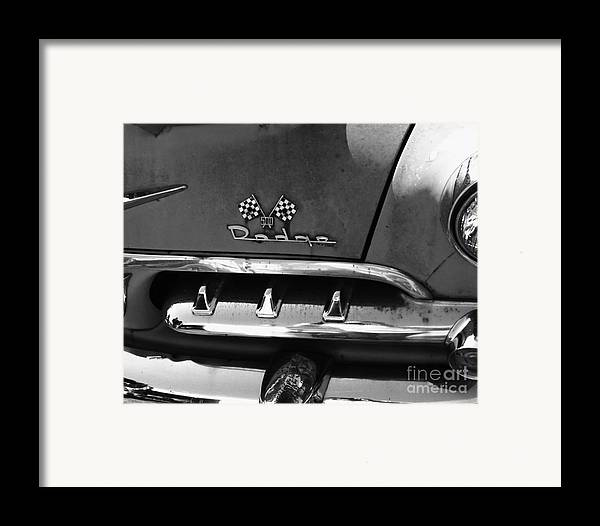 1956 Framed Print featuring the photograph 1956 Dodge 500 Series Photo 2 by Anna Villarreal Garbis