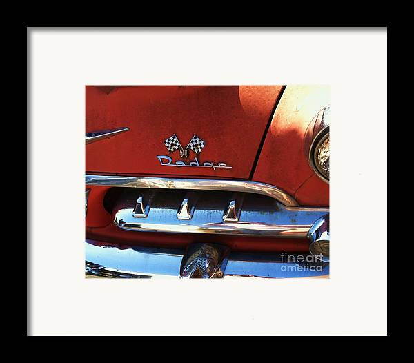 1956 Framed Print featuring the photograph 1956 Dodge 500 Series Photo 2b by Anna Villarreal Garbis