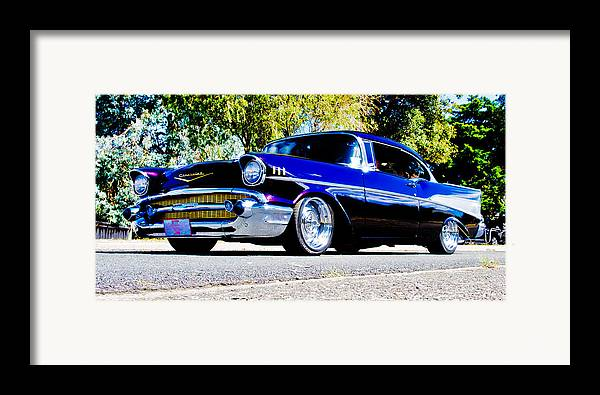 Custom Chevrolet Framed Print featuring the photograph 1957 Chevrolet Bel Air by Phil 'motography' Clark