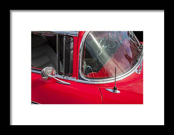 1957 Chevy Framed Print featuring the photograph 1957 Chevy Bel Air Chrome by Rich Franco