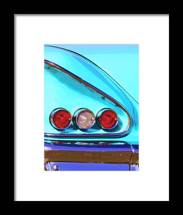 Palm Springs Framed Print featuring the photograph 1958 Impala Palm Springs by William Dey