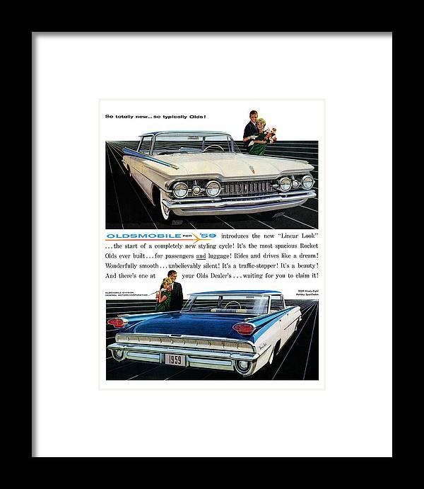 1959 Oldsmobile Ninety Eight Framed Print By Digital Repro Depot