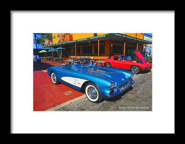 Corvette Framed Print featuring the photograph 1960 Corvette by Kornel J Werner