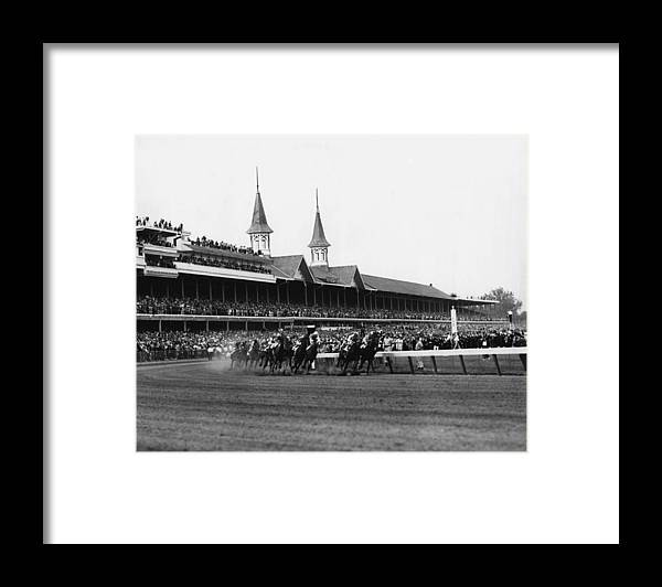 Classic Framed Print featuring the photograph 1960 Kentucky Derby Horse Racing Vintage by Retro Images Archive