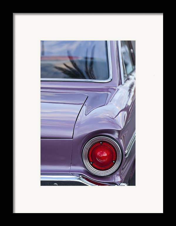 1963 Ford Falcon Framed Print featuring the photograph 1963 Ford Falcon Tail Light by Jill Reger