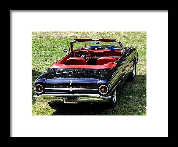 Cars Framed Print featuring the photograph 1963 Ford Futura Convertible by AJ Schibig