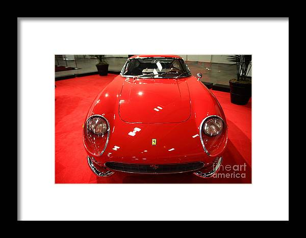 Transportation Framed Print featuring the photograph 1965 Ferrari 275 Gtb 5d26606 by Wingsdomain Art and Photography