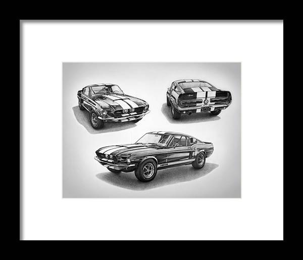 1967 Shelby Gt500 Mustang Framed Print by Nick Toth