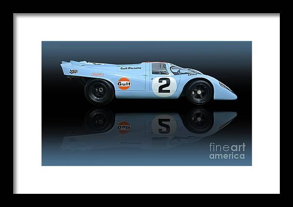 Automobile Framed Print featuring the photograph 1969 Porsche 917k Gulf Daytona Winner by Tad Gage