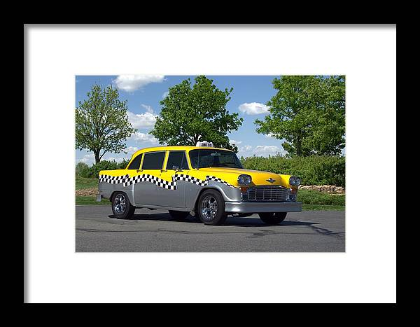 1975 Framed Print featuring the photograph 1975 Checker Cab by Tim McCullough
