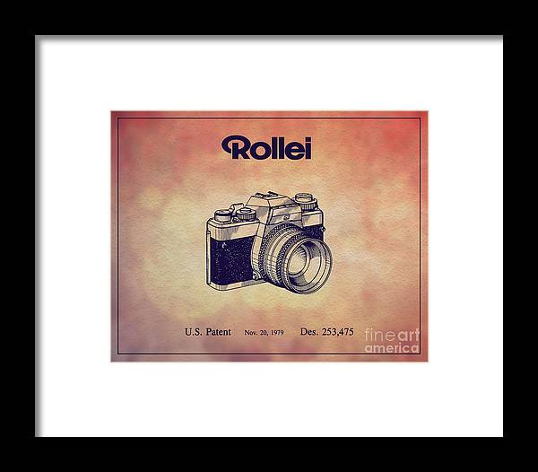 Camera Patents Framed Print featuring the digital art 1979 Rollei Camera Patent Art 1 by Nishanth Gopinathan