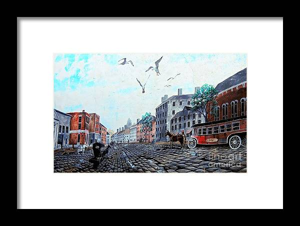 Landmark Framed Print featuring the photograph 19th Century Mural by Marcia Lee Jones