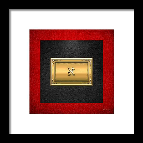 'ancient Brotherhoods' Collection By Serge Averbukh Framed Print featuring the digital art 19th Degree Mason - Grand Pontiff Masonic Jewel by Serge Averbukh