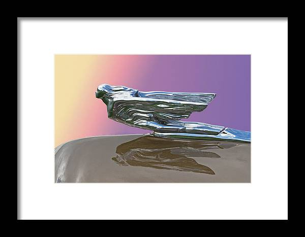 1941 Framed Print featuring the photograph 1941 Cadillac Fleetwood Hood Ornament by Nick Gray