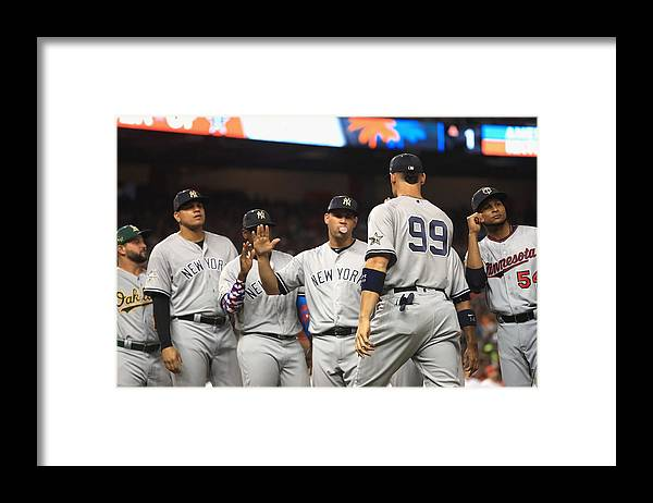 People Framed Print featuring the photograph 88th MLB All-Star Game by Mike Ehrmann
