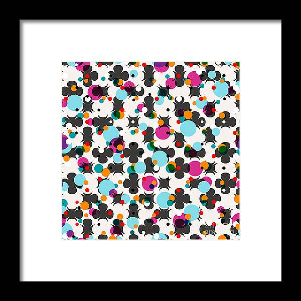 Color Framed Print featuring the digital art Abstract Geometric Pattern Background by Kirsten Hinte