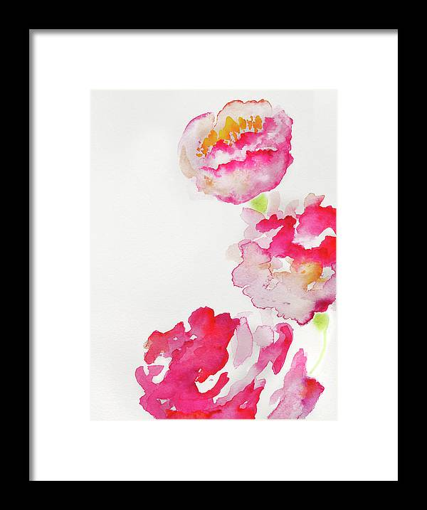Art Framed Print featuring the photograph Abstract Watercolour Flowers by Kathy Collins