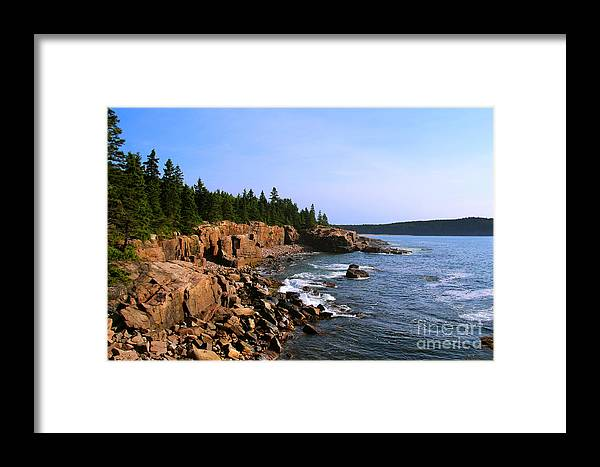 Landscape Framed Print featuring the photograph Acadia Coast by Jemmy Archer