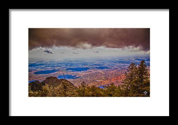 Sandia Mountains Framed Print featuring the photograph Albuquerque by Tony Lopez