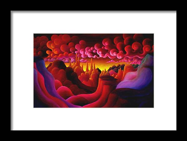 Magical Framed Print featuring the painting And Of This In Darkness I Find by Richard Dennis