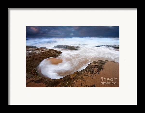 Bowl Framed Print featuring the photograph Angry Sea by Mike Dawson