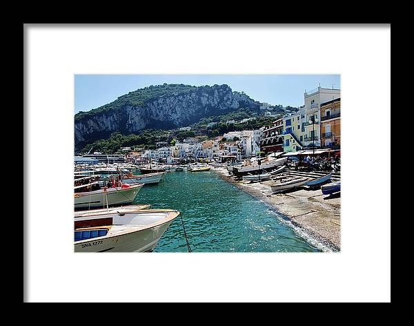 Capri Framed Print featuring the photograph Arrival To Capri by Dany Lison