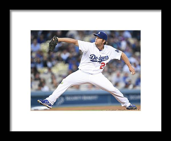 People Framed Print featuring the photograph Atlanta Braves V Los Angeles Dodgers 2 by Harry How